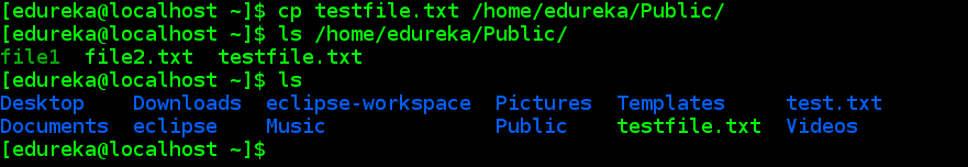 cp - linux commands - edureka