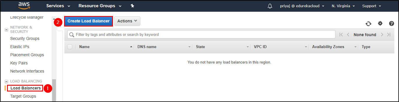 Create Load Balancer - Elastic Load Balancer - Edureka
