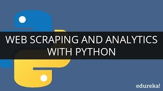 Web Scraping And Analytics With Python