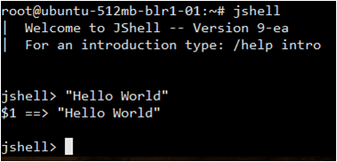 JShell Hello World Example - Java 9 - Edureka