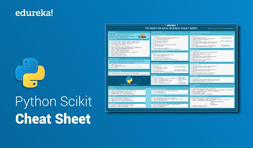 Python Scikit-learn Cheat Sheet | Python Cheat Sheet for