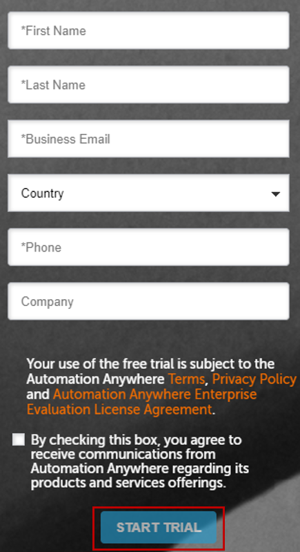 Login For Free Trail