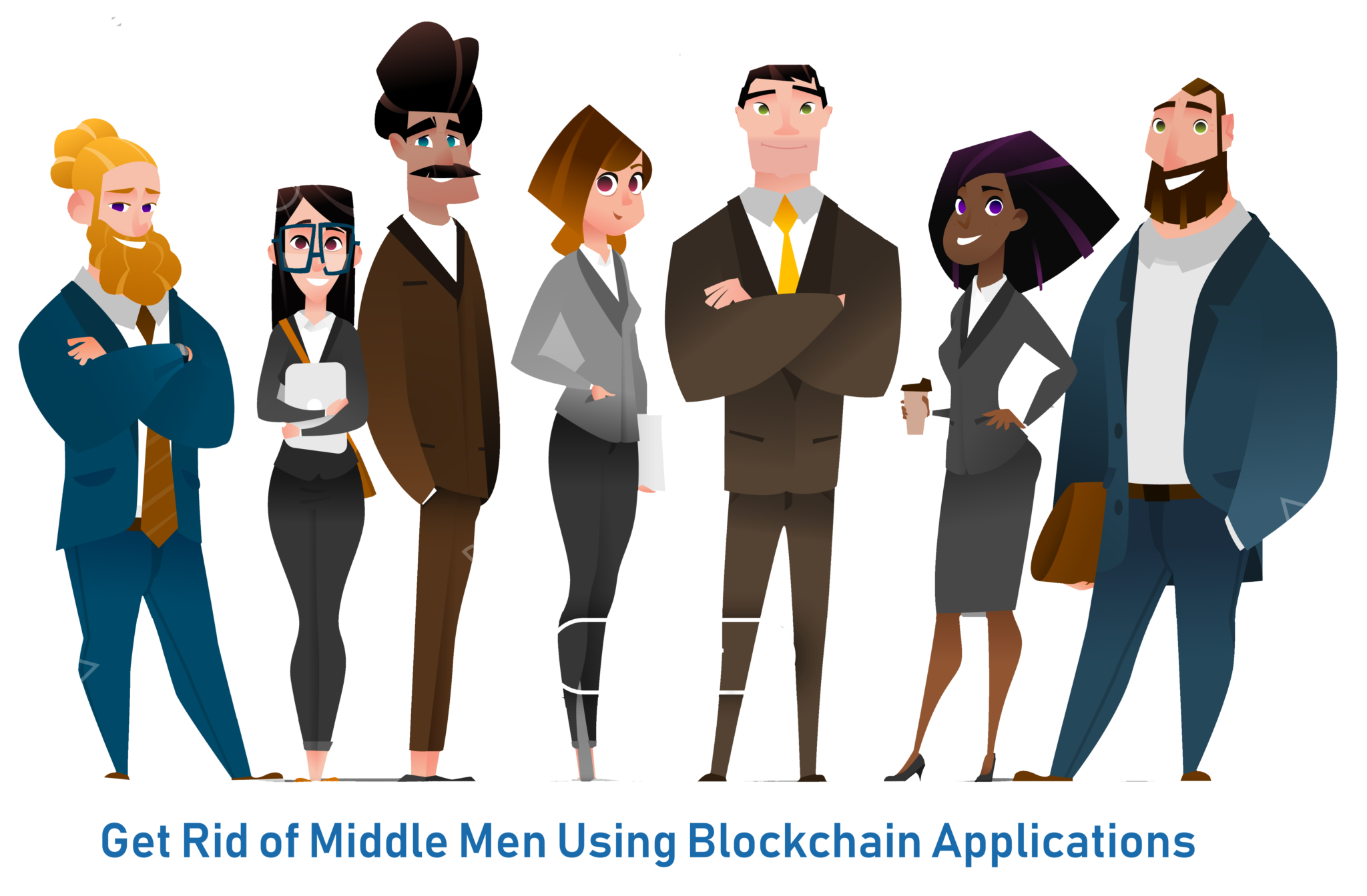 No middle men - Blockchain Applications - Edureka