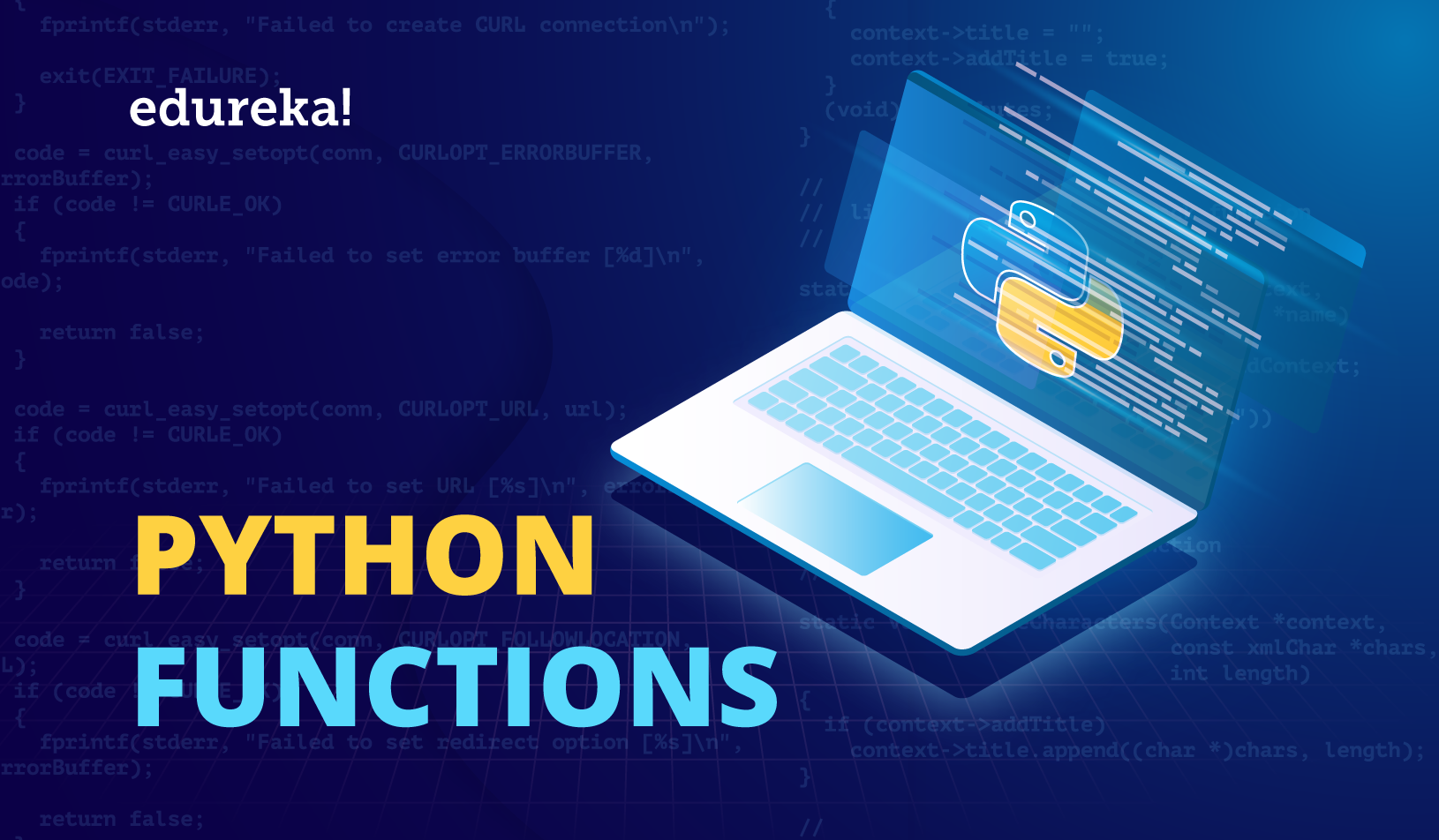 Python Functions Tutorial | Working With Functions In Python | Edureka