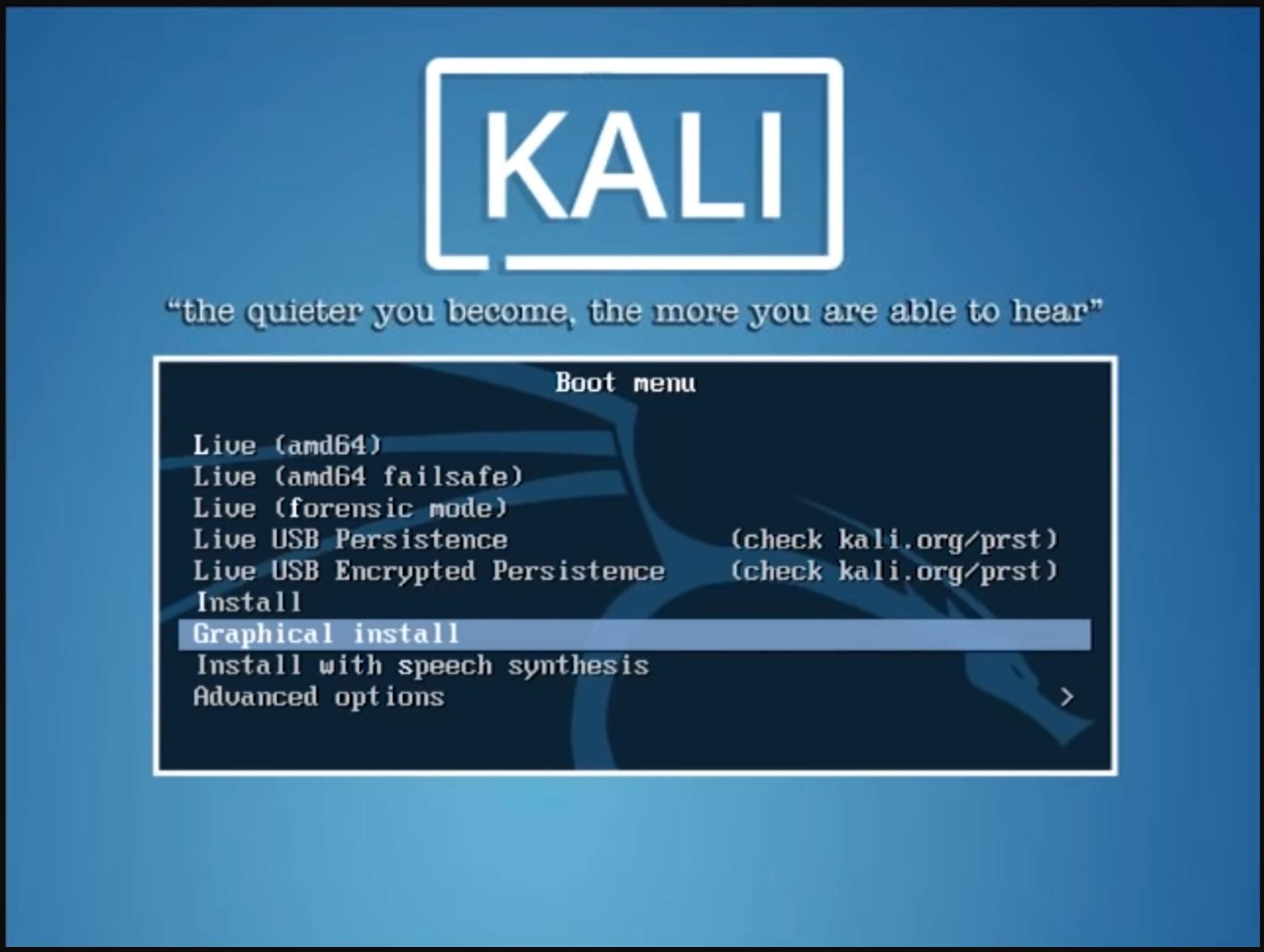 Step 1 Kali Lniux - Installing Kali Linux - Edureka