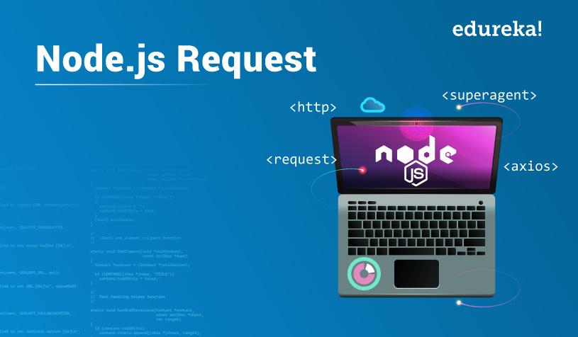 Learn Best 3 Ways to Make Node js Requests | Edureka