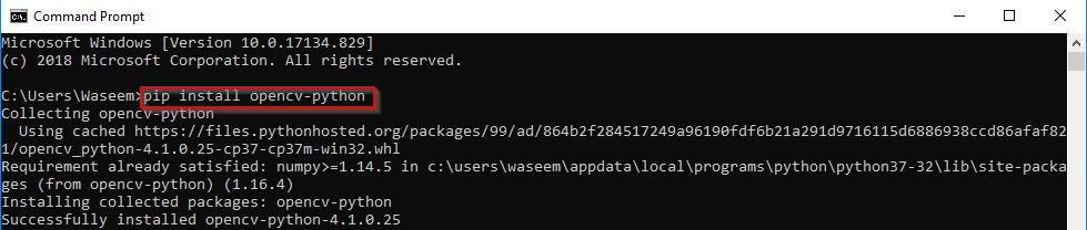 Install OpenCV Python On Windows | OpenCV Installation | Edureka