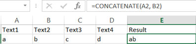 string concatenation in excel