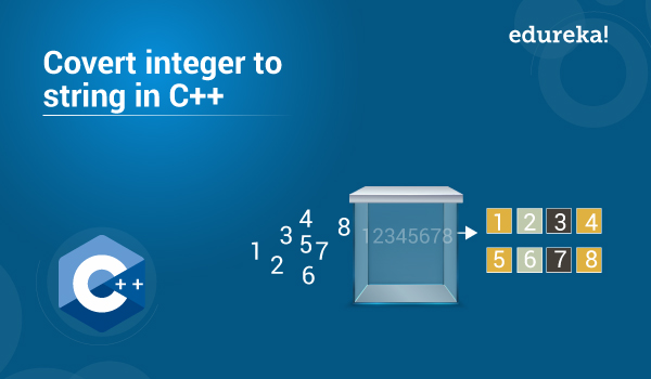 Convert Integer To String In C++ | C++ Programming | Edureka