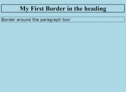 Borders in CSS