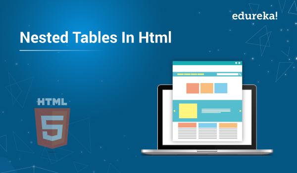 Nested Tables In Html Html Program For Nested Tables Edureka
