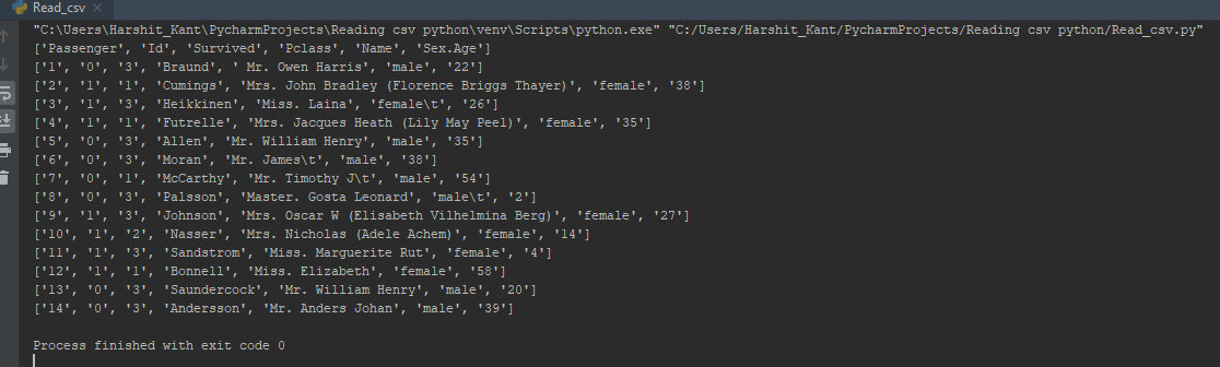 How to Read a CSV File in Python | Reading and Writing CSV