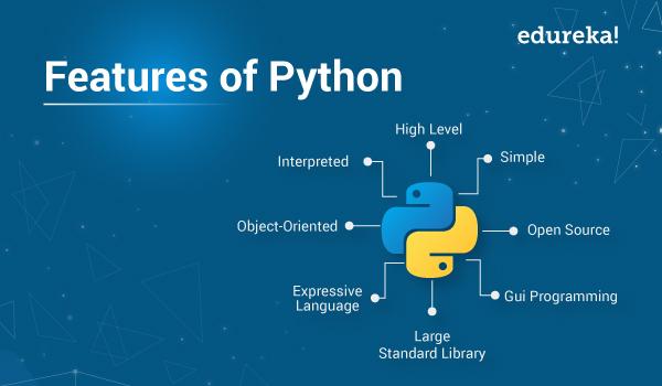 Features of Python   Top 10 Features of Python programming   Edureka