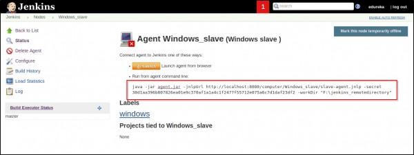 How do I set up a windows_slave agent via JNLP, If I have a Jenkins