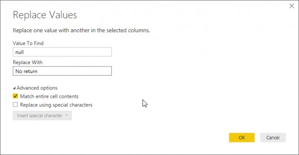 How to replace null values with custom values in Power BI(power