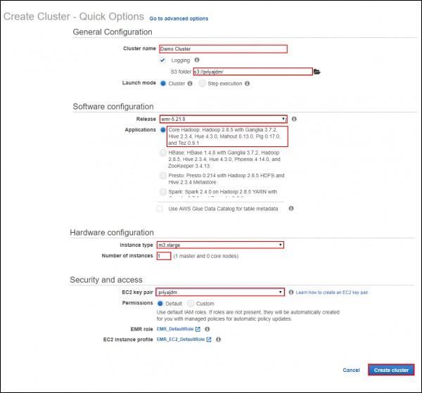 How to create a EMR cluster?   Edureka Community