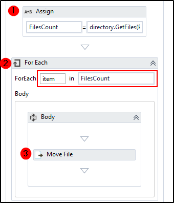 Moving Files from one folder to another using UiPath