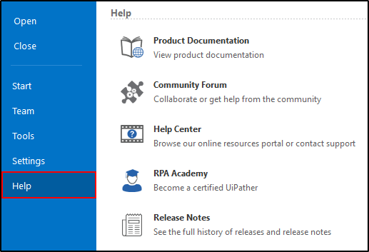 Can someone explain me the major components of UiPath Studio