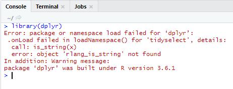 Error: package or namespace load failed in R   Edureka Community