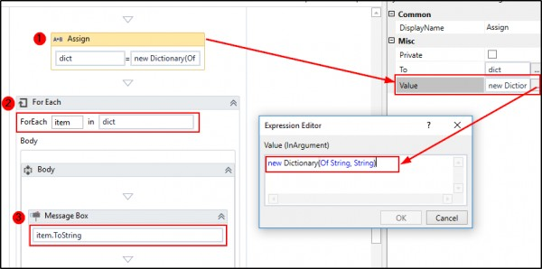 How to loop through a dictionary in UiPath? | Edureka Community