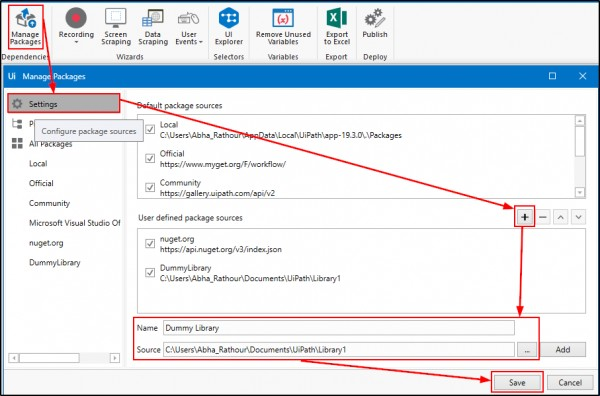 Unable to add custom library in UiPath Studio  | Edureka