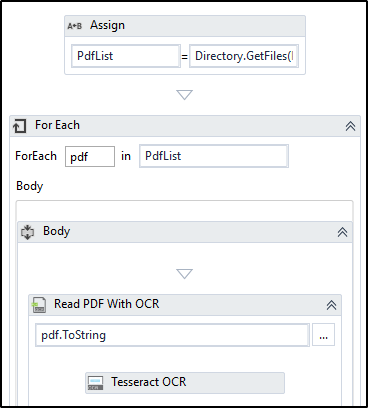 Looping through PDF files to extract specific data using