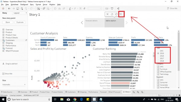 How To Add A Story With Same Sheet With Different Parameters And Filters Added In Tableau Edureka Community