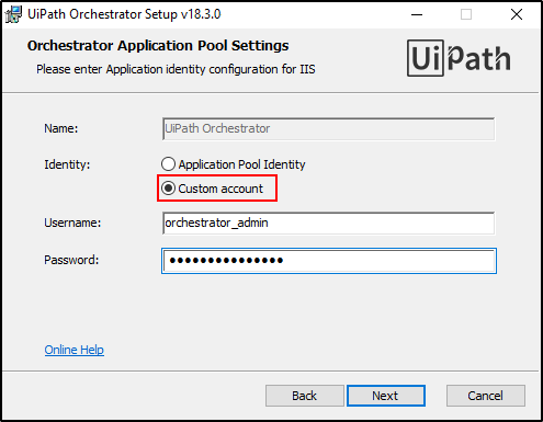 How can I install Orchestrator for Uipath through Windows Installer