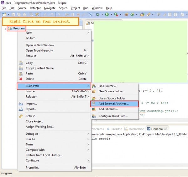 How to import a jar file in Eclipse? | Edureka Community
