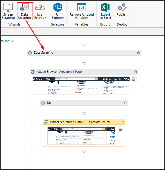 How to extract data from a website and save it to excel using UiPath