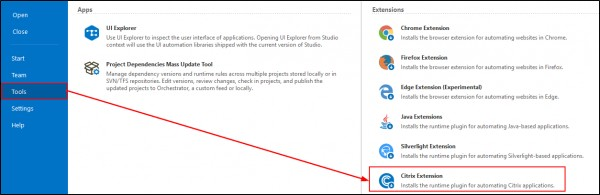 How to install and configure Native Citrix on UiPath studio