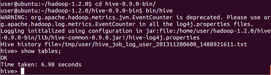 Hive installation on ubuntu - 11