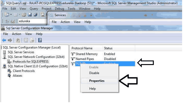 how to find which port sql server is using